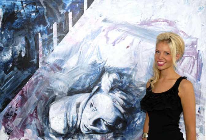 Rising star Emma Grzonkowski hosts exhibition at Castle Fine Art, Exeter
