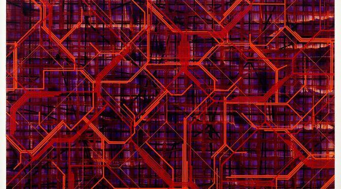 Mark Francis, Hedrel (2015), acrylic and oil on canvas, 214 x 274cm, courtesy of Kerlin Gallery, Dublin
