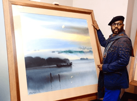 Paresh Maity with Watercolour