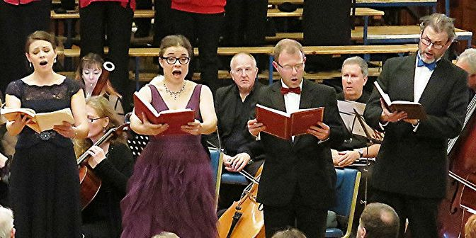 Plymouth Philharmonic Choir Soloists (L-R) - Katie TretheweyJeanette Auger Peter Willman James Cleverton