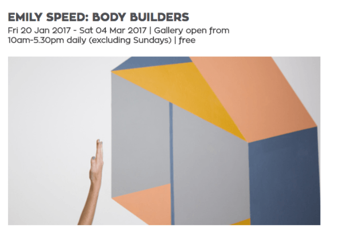 Your space or mine? Emily Speed's Body Builders at the Exeter Phoenix