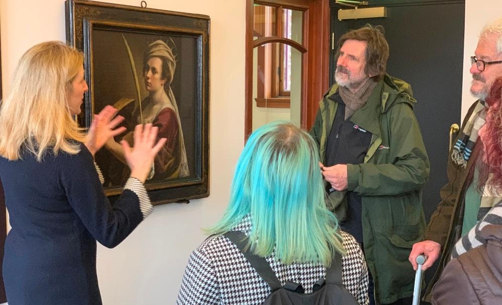 Artemisia Gentileschi's self portrait goes on display for