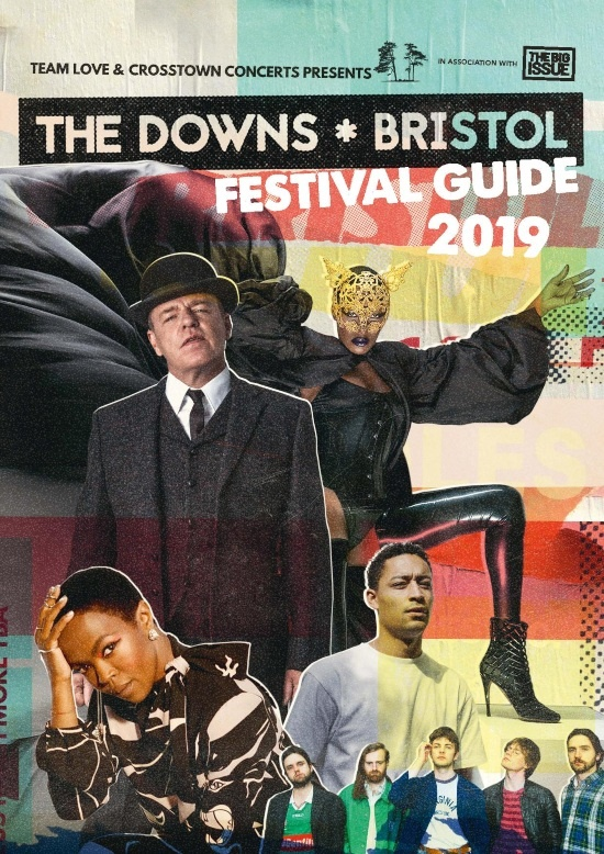 the cover of the big issue featuring acts from the downs bristol
