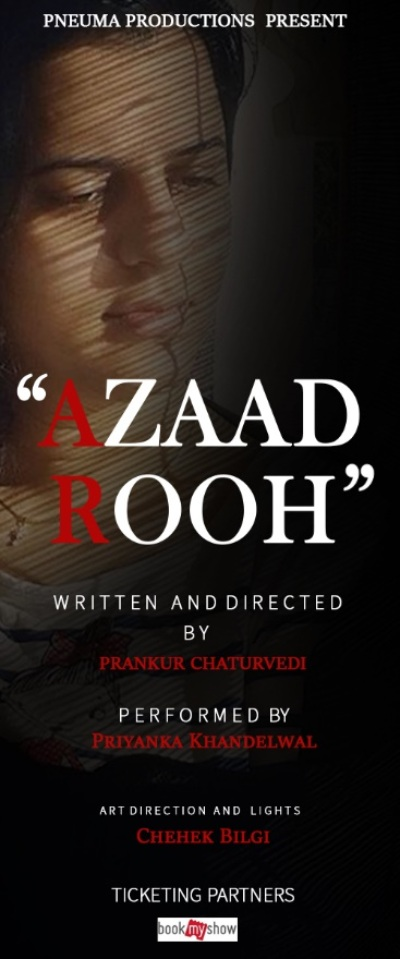 poster forAzaad Rooh  Prankur Chaturvedi