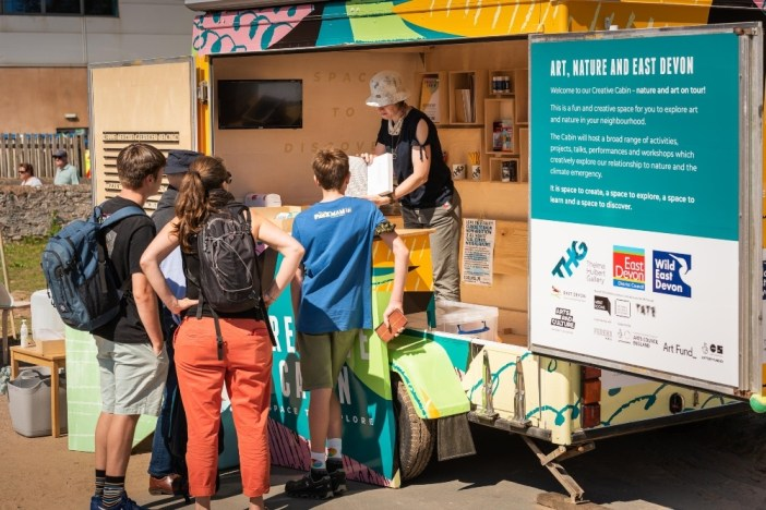 Creative Cabin | mobile hub up for Hearts for the Arts Award
