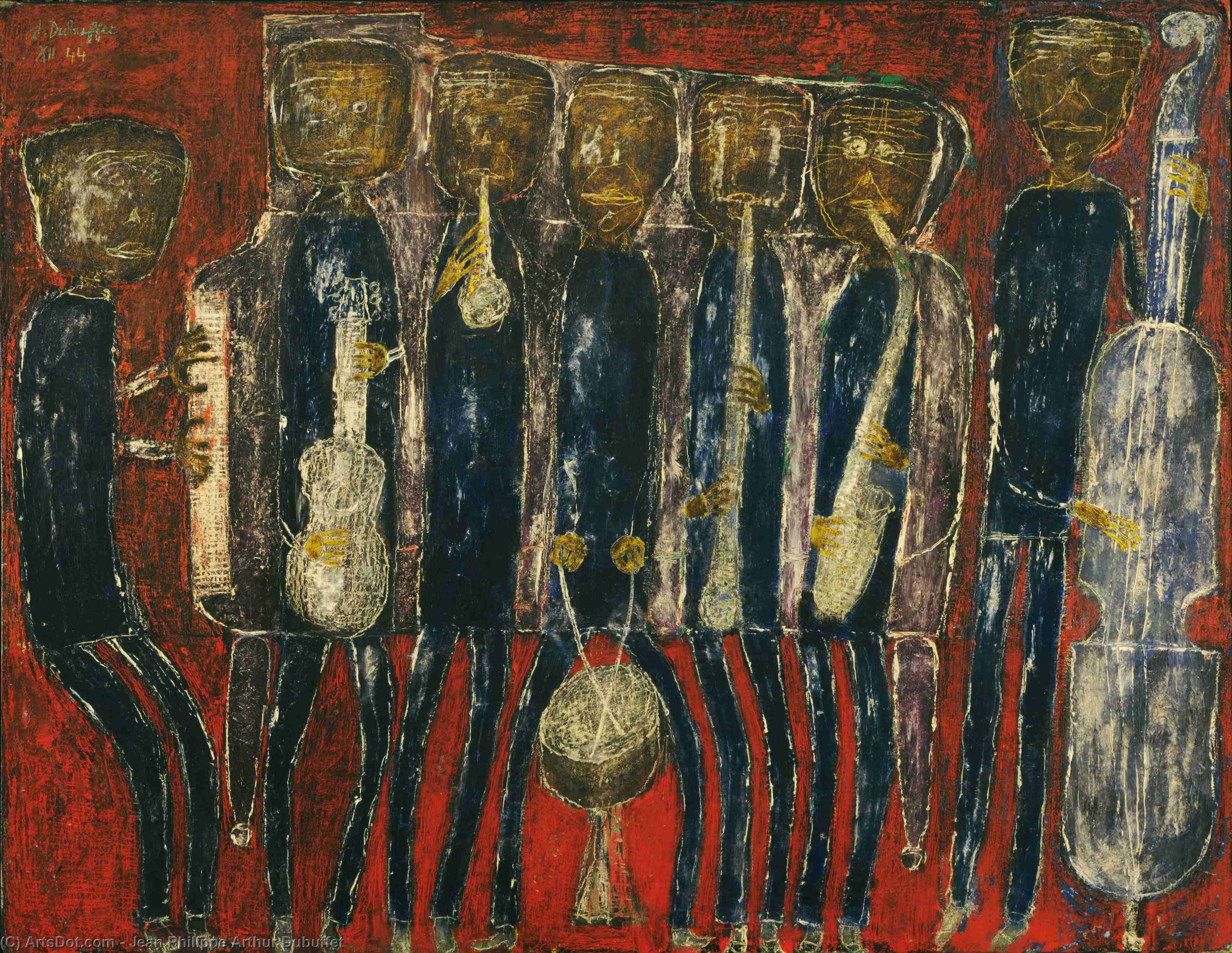 Grand Jazz Band By Jean Philippe Arthur Dubuffet France