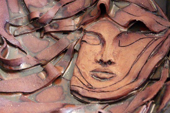 Cyrel Troster's dramatic mask pottery