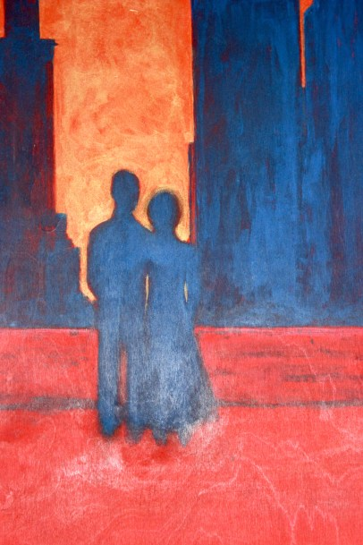 Detail of Stella Walker's painting 'Penthouse Serenade'