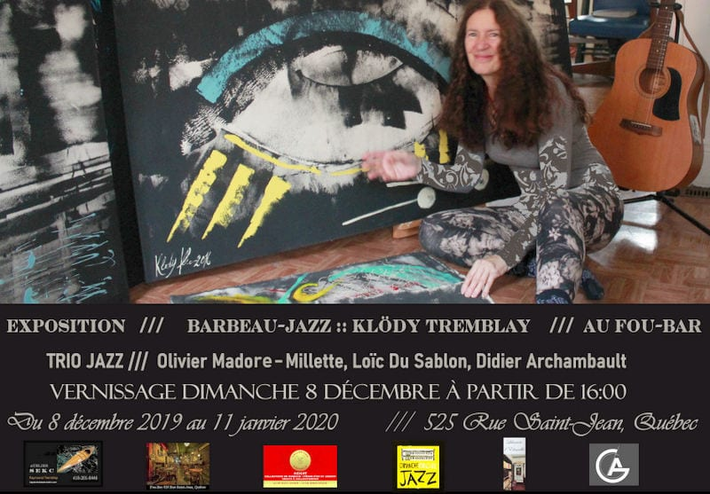 Expo Klody au Fou Bar de Québec