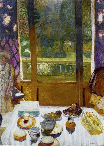 """Pierre Bonnard's """"Dining Room Overlooking the Garden (The Breakfast Room),"""" 1930-31"""