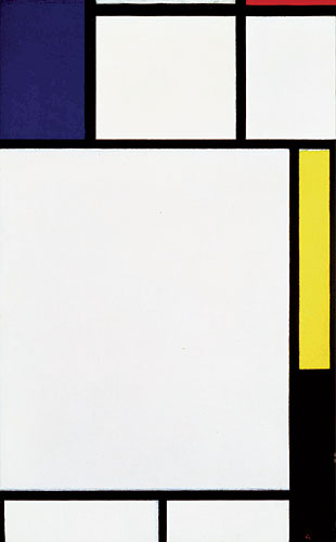 Piet Mondrian's Composition avec Bleu, Rouge, Jaune et Noir, 1922, ($10-14 million)