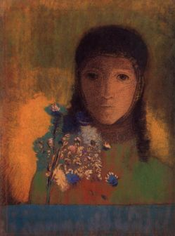 odilon-redon-woman-with-wild-flowers