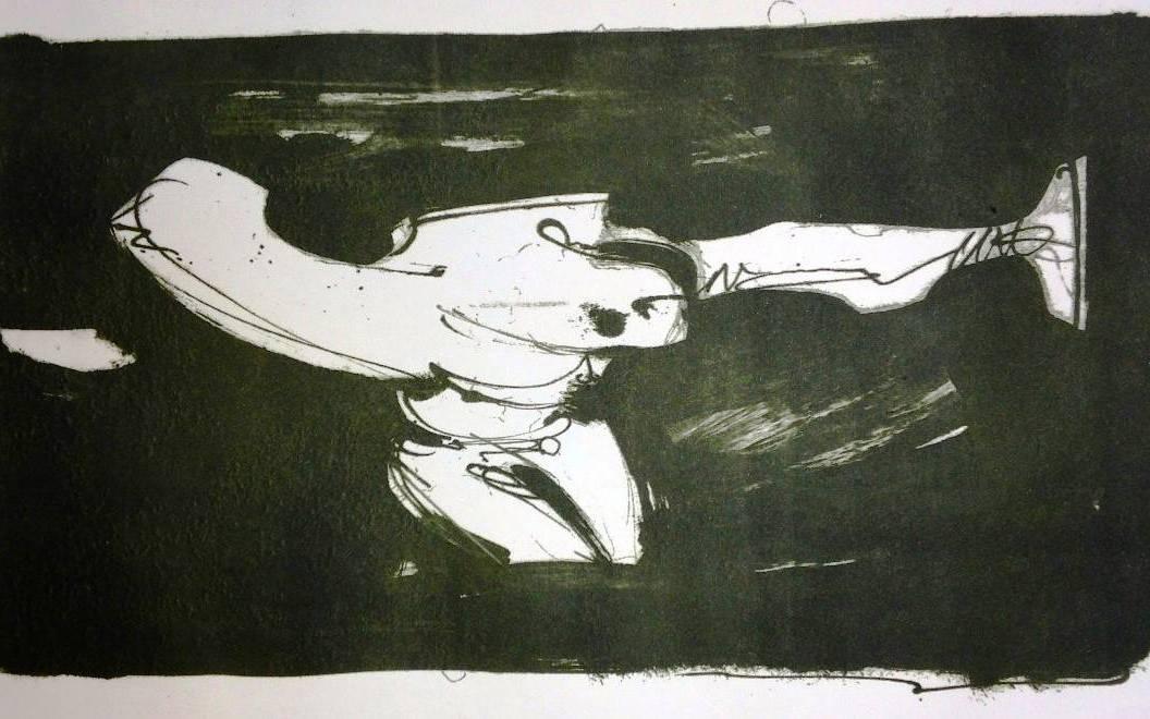 Mon daemon (variation) - lithography