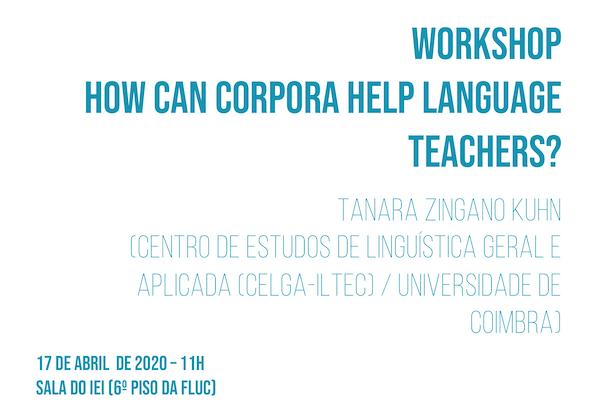 "Workshop ""How Can Corpora Help Language Teachers?"" – Agenda UC"