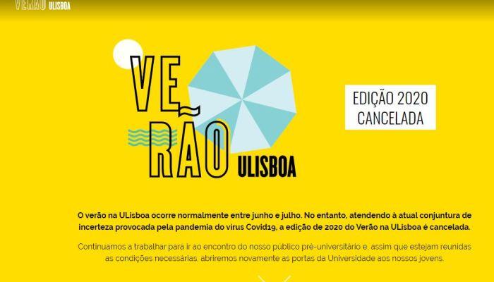 Evento Da Universidade De Lisboa Cancelado. Este Destinava-se Aos Jovens Do Ensi…