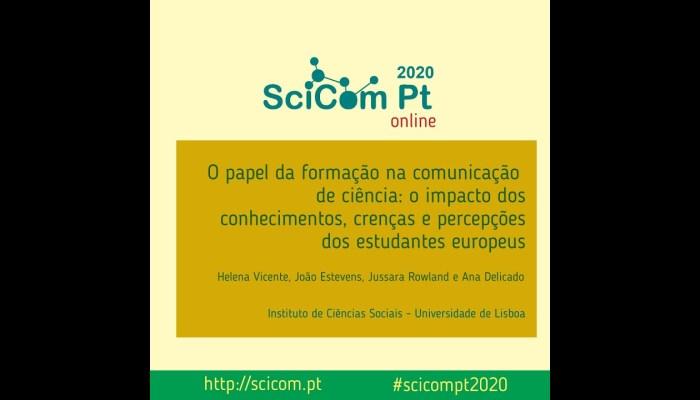 #SciComPt2020 O Papel Da Formação Na Comunicação De Ciência (Helena Vicente)