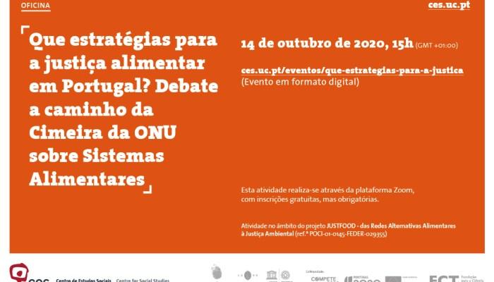 Que Estratégias Para A Justiça Alimentar Em Portugal? Debate A Caminho Da Cimeira Da ONU Sobre Sistemas Alimentares