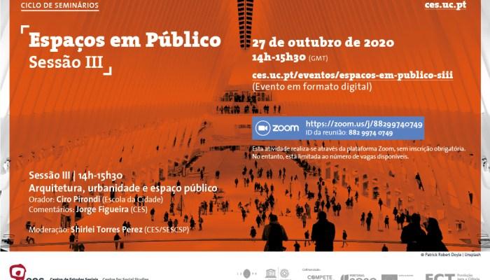Espaços Em Público | Sessão III
