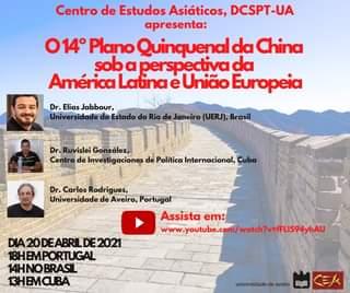 No Dia 20 De Abril 2021, O Centro De Estudos Asiáticos, Do Departamento De Ciên…