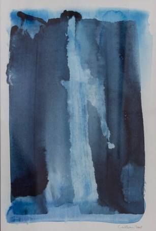 """Waterfall in Blue"" Watercolour on acid-free paper $900"