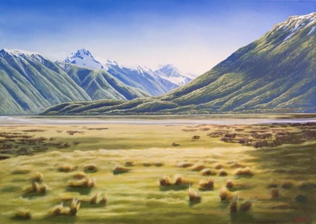 """Near Mount White"" Acrylic on canvas $1,400"