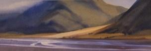 """Waimakariri below Bealey"" Watercolour $700"