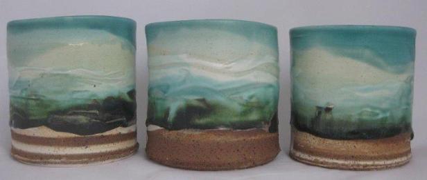 Three Beyond The Horizon Vessels by Jane McCulla