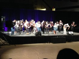 The final dance included members of all dance groups uniting as one.