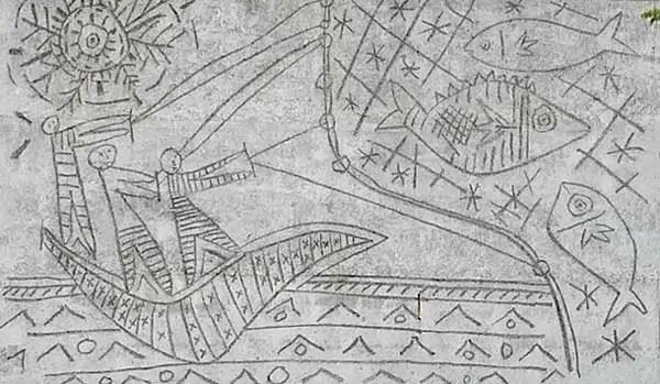 Il murale The Fishermen di Picasso, a Oslo