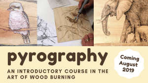 pyrography workshop with Dallas Pegrum