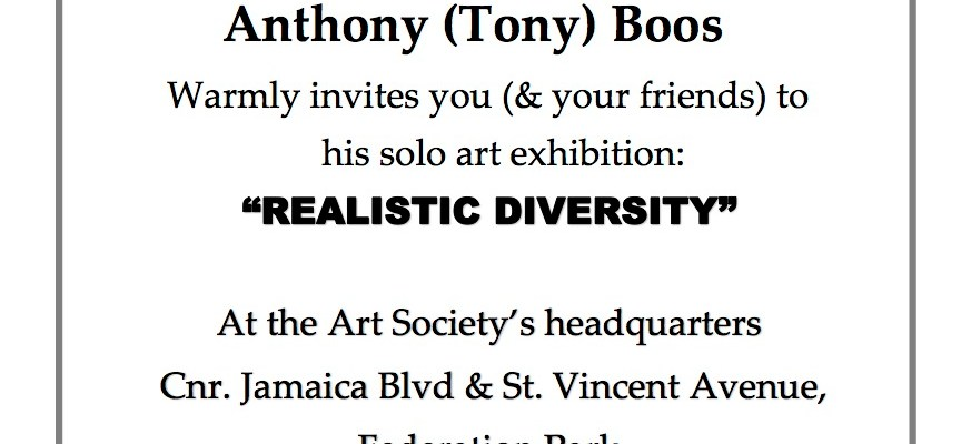 Realistic Diversity, The Anthony (Tony) Boos Solo Show
