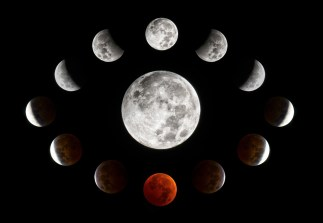 Credit: Connor Madison Astrophotographer Connor Madison created this collage of lunar eclipse photos taken on Oct. 8, 2014, in Oshkosh, Wisconsin (at UW Oshkosh).