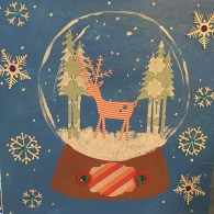Mixed Media Snow Globe
