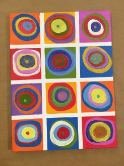 Canvas Colorful Circles