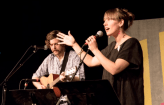Conductor Amelia Shull accompanied by Patrick O'Neil