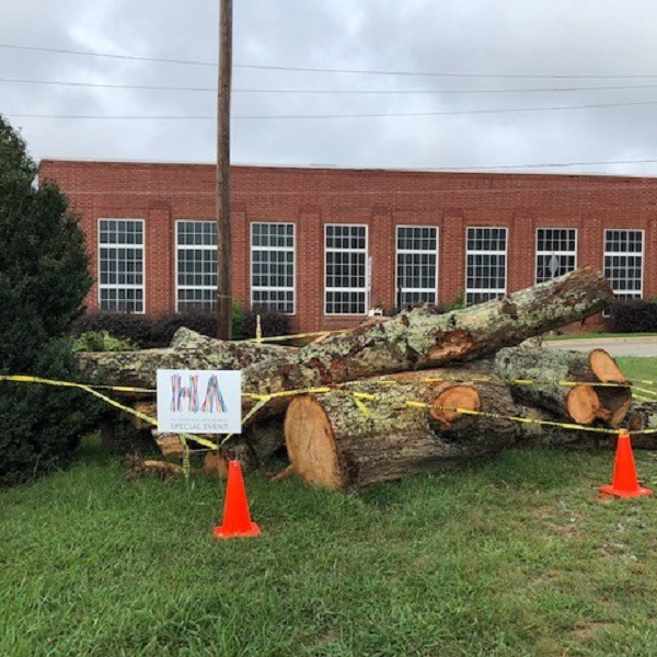 Hillsborough is turning wood from a tree that fell during Florence into art