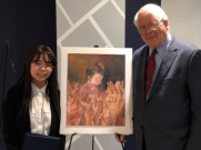 Jihee Seo and Congressman David Price