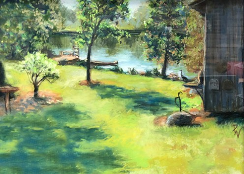 "Sponsor's Choice, Jerry's Artarama: ""Hall's Mill Pond"" by Dorothy Whitmore of Hillsborough, NC"