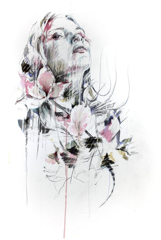 Range of Arts - Painting - Carne Griffiths - White Noise