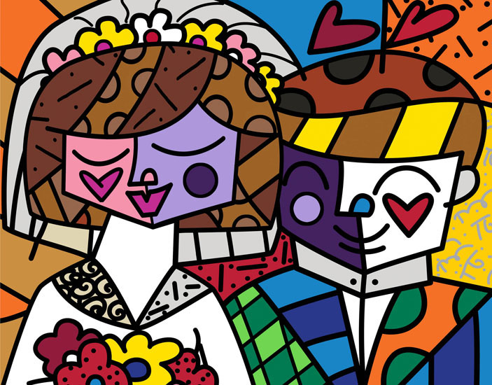 Range of Arts - Romero Britto - Fine Art Prints - Love