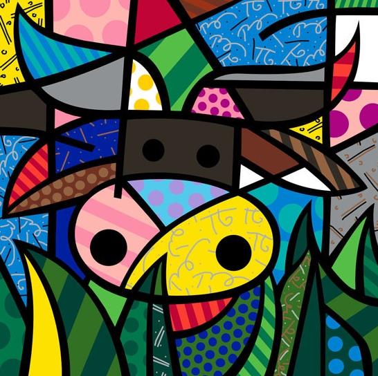 Range of Arts - Romero Britto - Fine Art Prints - My Cow