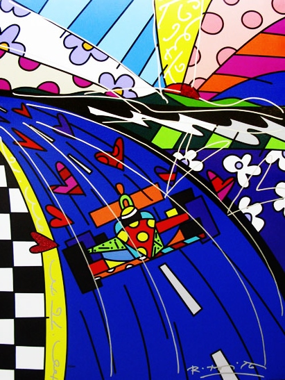 Range of Arts - Romero Britto - Fine Art Prints - Race Car