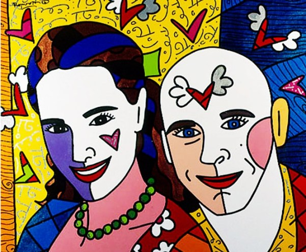 Range of Arts - Romero Britto - Original Portraits Paintings - Claudia and Guy