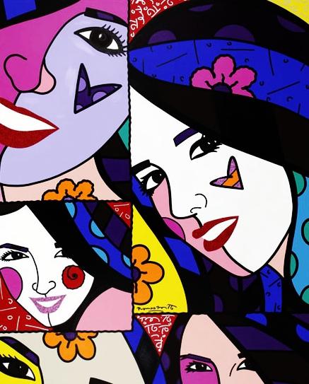 Range of Arts - Romero Britto - Original Portraits Paintings - Daniella