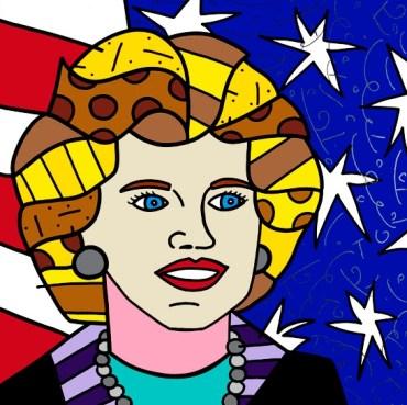 Range of Arts - Romero Britto - Original Portraits Paintings - Eunice Kennedy Shriver