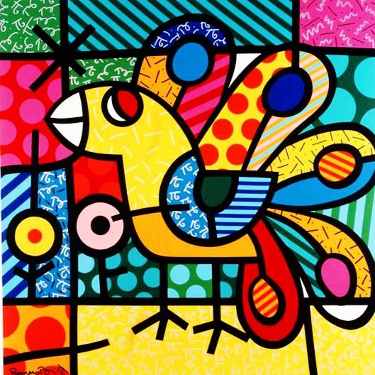 Range of Arts - Romero Britto - Original Artworks - The Peacock
