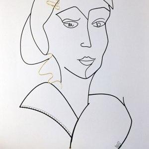 laure simoneau lor wire sculptor french artist contemporary art portrait