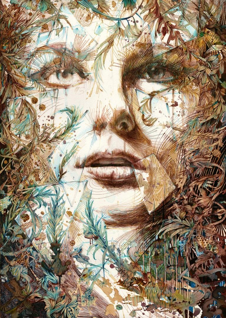 carne griffiths ink tea vodka painting artwork art painting