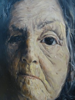 Range of Art I Painting I Nathan Chantob I Old Lady profil