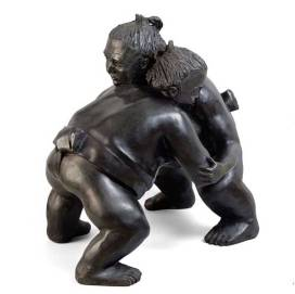 alexandra gestin artist sumo sculpture bronze resin outdoor honfleur buy